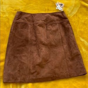 Ann Taylor leather suede skirt